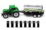 Инерционный трактор «Фермер» с бочкой, 9975-4, фото