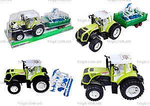 Инерционный трактор с прицепом «Фермер» для детей, 0488-213