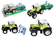 Инерционный трактор с прицепом «Фермер» для детей, 0488-213, отзывы