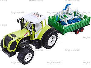 Инерционный трактор с прицепом «Фермер» для детей, 0488-213, цена