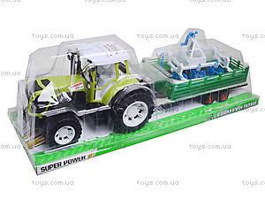Инерционный трактор с прицепом «Фермер» для детей, 0488-213, игрушки