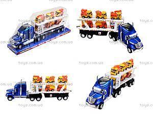 Инерционный трейлер-автовоз, для детей, 628-27B