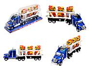 Инерционный трейлер-автовоз, для детей, 628-27B, фото
