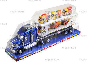 Инерционный трейлер-автовоз, для детей, 628-27B, отзывы