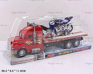 Инерционный трейлер, с мотоциклом, 333B-6