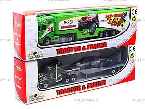 Инерционный трейлер с прицепом, PT304, игрушка