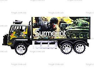 Инерционный военный грузовик Surmount, 328-3, игрушки