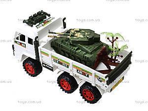 Инерционный игрушечный грузовик с военной техникой, 8832, отзывы