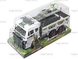 Инерционный игрушечный грузовик с военной техникой, 8832, цена