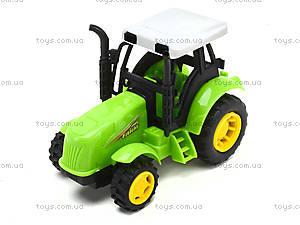 Инерционный игрушечный трактор для детей, 1120-1, фото