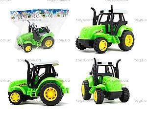 Инерционный игрушечный трактор для детей, 1120-1