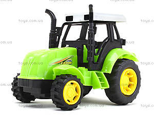 Инерционный игрушечный трактор для детей, 1120-1, отзывы