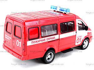 Инерциоонный микроавтобус «Пожарная охрана», 9098-A, магазин игрушек