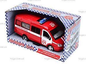 Инерциоонный микроавтобус «Пожарная охрана», 9098-A, toys.com.ua