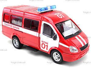 Инерциоонный микроавтобус «Пожарная охрана», 9098-A, toys