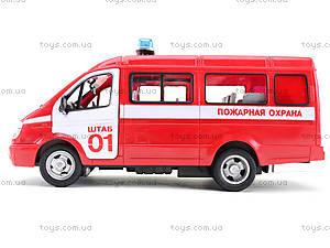 Инерциоонный микроавтобус «Пожарная охрана», 9098-A, іграшки