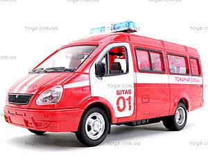 Инерциоонный микроавтобус «Пожарная охрана», 9098-A, детский