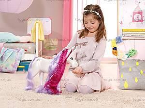 Интерактивная лошадка для куклы Baby Born «Единорог», 820711, магазин игрушек