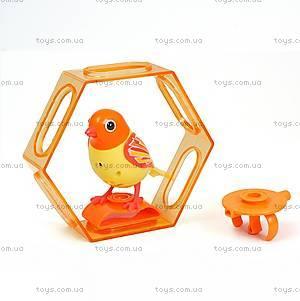 Интерактивная птичка DigiBirds «Лучик» с клеткой, 88023-3