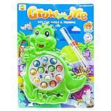 """Интерактивная игрушка """"Рыбалка: Крокодильчик"""" зеленый, 8866A, набор"""