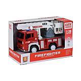 Интерактивная инерционная пожарная машина с белым подъёмником, WY551C