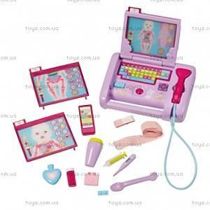 Интерактивный лептоп для куклы Baby Born «Больничка», 819579