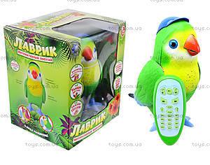 Интерактивная игрушка для детей «Попугай Лаврик», TK273