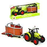 Интерактивный инерционный трактор для перевозки животных, WY900I, игрушки