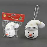 Ёлочная игрушка «Голова Снеговика», C22625, набор
