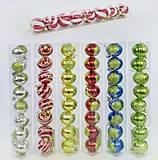 Ёлочная игрушка «Шары» 6 цветов 8 штук в наборе, C30621, тойс ком юа