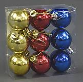 Ёлочная игрушка Шарики, 9 шт. в слюде, C21980, детский