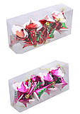 Ёлочная игрушка 8 шт. в слюде, 01059, Украина
