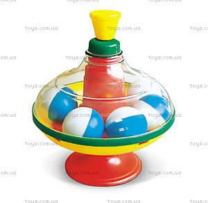 Юла прозрачная, с шариками, 01319