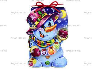 Детская книжка «Снеговик» со шнурком, М555006У, цена