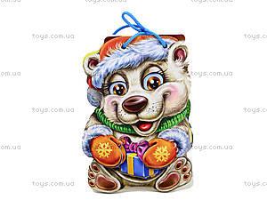 Книжка для детей «Белый медведь» со шнурком, М555004Р, цена