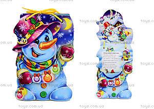 Книжка для детей «Cнеговик» со шнурком, М555002Р
