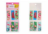 """Закладки для книг магнитные, 6 штук """"Фламинго"""", 23987, магазин игрушек"""