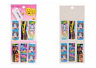 """Закладки для книг магнитные 6 штук """"Неон, единороги, коты, тигр"""", 23989, toys.com.ua"""