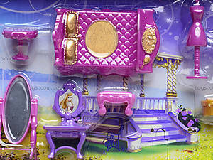 Музыкальный замок с мебелью и каретой, SG-2973, детские игрушки