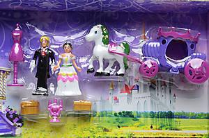 Музыкальный замок с мебелью и каретой, SG-2973, toys.com.ua