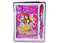 Записная книжка с ручкой «Принцессы», PRAB-US1-340, фото
