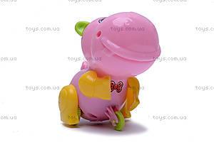 Заводная игрушка «Бегемотик», JS9900, фото