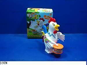 Заводная игрушка «Петушок с барабаном», 777