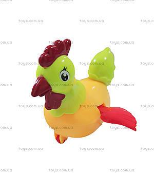 Заводная игрушка курочка желтая, R347