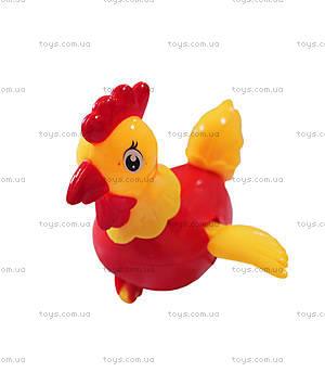 Заводная игрушка курочка красная, R347