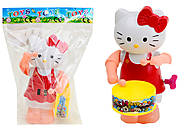 Заводная игрушка с барабаном Hello Kitty, 3584-2A
