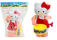 Заводная игрушка с барабаном Hello Kitty, 3584-2A, фото