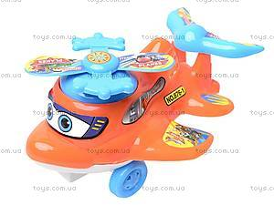 Заводной самолет-погремушка, 876-1, игрушки