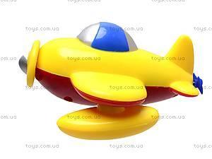 Заводной самолёт игрушечный, 025R, фото