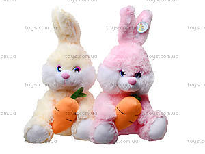 Плюшевый зайчик с морковкой, 377635, отзывы